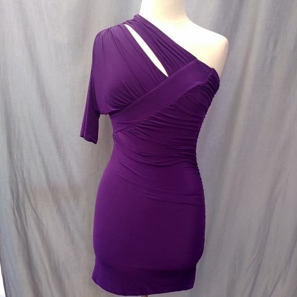 True Light U.S.A. dress purple Size S one sleeve